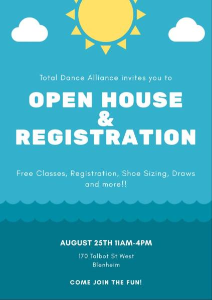2018 Open House & In Studio Registration